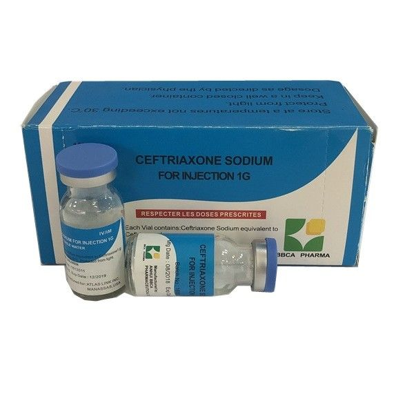 Medical Ceftriaxone Sodium Powder For Injection 1G White Powder With GMP